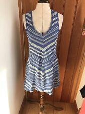 White Stuff Flamenco Knit Cotton Sun Dress Stripe12 Bnwt