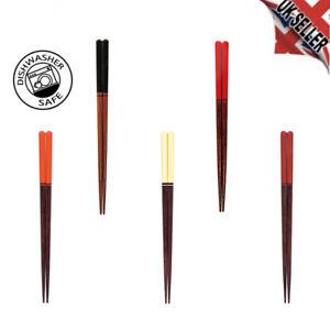 DISHWASHER Wooden Chopsticks 22.5/16.5cm Made inJapan Prime Quality Non-slip tip