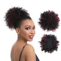 Synthetic Afro Curly Hair Bun Short Drawstring Chignon Updo Ponytail Extensions