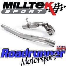 """Milltek SSXVW397 Golf GTi MK7 & Clubsport 3"""" Downpipe & Sports Cat EC - Fits OE"""