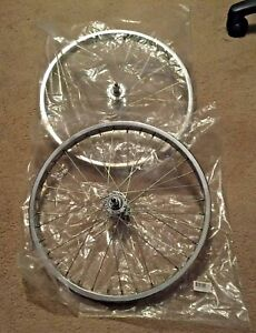 """Pair of 16"""" Action Bicycle USA, Inc. 740/1160 Chrome Wheels 36 Spoke Front +Rear"""