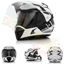 ACERBIS CASCO HELMET ACTIVE GRAFFIX NERO BIANCO MOTO ENDURO OFF ROAD TOURER L