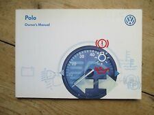 VOLKSWAGEN POLO OWNERS MANUAL PRINTED 1997