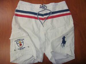 Polo Ralph Lauren RLPC Football Club Big Pony Logo Authentic Swim Trunks M