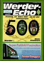 BL 90/91 SV Werder Bremen - Eintracht Frankfurt, 22.03.1991 - Werder-Echo 500