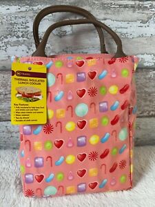Pink Candy Design Thermal Insulated Lunch Cooler Bag - Brand New