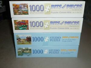 LOT OF 4 BITS & PIECES 1000 pc puzzles HEARTFELT MEMORIES / PROUD OF MY GIRLS EC