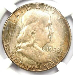 1958 Franklin Half Dollar 50C Coin - Certified NGC MS67 FBL - $5,050 Value!