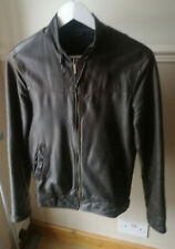 Men's Zara Real Leather Biker Jacket - Size 36 / S - Brown
