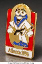 OLYMPIC PINS 1996 ATLANTA MASCOT IZZY SPORT JUDO