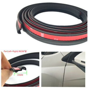 Rubber Seal Strip Soundproofing Trim For Car Front Door A Pillar Edge 90cmx20mm