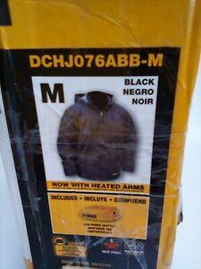 DEWALT DCHJ076ABB-M Heated Heavy Duty Work Coat, Black, Medium, Bare NEW