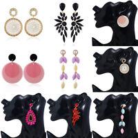 Women Fashion Crystal Long Chain Drop Dangle Tassel Jewelry Ear Stud Earrings