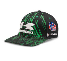 Kawasaki Flat Bill Race Hat - Size Medium - Genuine Kawasaki - Brand New