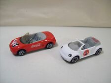 NWOB LOT OF 2 MATCHBOX COCA COLA DIE-CAST CARS MGF1-8 i & CONCEPT 1 BEETLE BUG