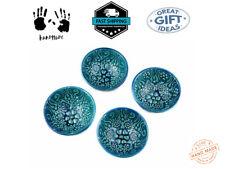 Set of 4 Handmade Turkish Ceramic Bowls 7cm Hand Painted by Sydney Grand Bazaar