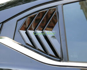 For Nissan Sentra 2020 2021 Glossy black Side Vent Window Scoop Louver Trim 2pcs