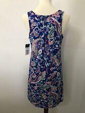 Ralph Lauren Pajama Gown Sleeveless Summer Royal Blue Paisley Womens Small