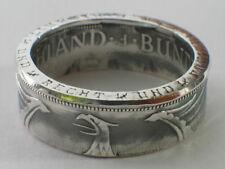 Münzring 5 DM Silberadler Heiermann Silber 625er Gr. 52 bis 72 Ring Mark vintage