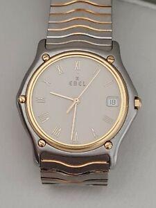 Ebel Classic Wave Herren Stahl Gold Armbanduhr