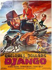 Affiche cinéma western QUELQUES DOLLARS POUR DJANGO - 120 x 160 cm