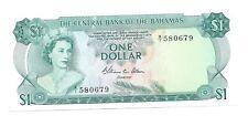 1 dollar 1974 Bahamas Pick 35b p $ d S/N 580679