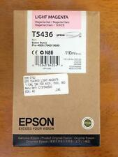 Genuine Epson Ink Cartridge - T5436 LIGHT MAGENTA / PRO 4000 7600 9600 (INC VAT)