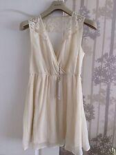 Beautiful Silky Feel Super Mini Tunic Dress in Vanilla Large New+Tags