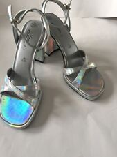 Vintage Fioni Iridescent Women's Shoes Heels Sandals 7.5