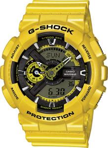 Casio G-Shock GA110 Neo Metallic Series Anadigi Standard Color Yellow Watch