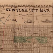 "RARE 1857 New York NYC MAP NEW YORK CITY MAP ""THE GREAT METROPOLIS"""