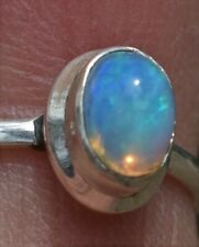 Very Nice Deep Blue Crystal Opal 7x5rmm - S/Silver Ring from AAopalsU38
