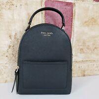 Kate Spade Cameron Street Mini Convertible Backpack Crossbody Bag Black leather
