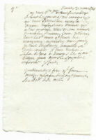 1744 Manuscript Letter ORIGINAL Authentic RARE