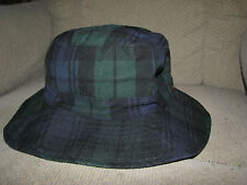 POLO-RALPH LAUREN Oilcloth Blackwatch Plaid Bucket Hat (S-M)