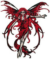 Amy Brown's Fire Element Fairy Embroidered 3.25 Inch High Patch Style 2 NEW
