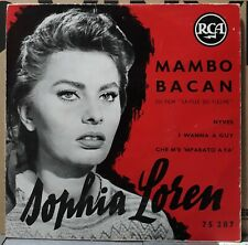 Rare EP - SOPHIA LOREN MAMBO BACAN EP French 1955  RCA – 75 287 ( TBE )