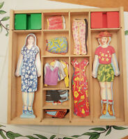 "Melissa And Doug 👗​ Magnetic Wooden Dress Up Dolls ​👠 34 Pc 9.5"" Play Set Toy"