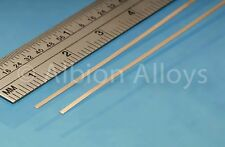 Albion Alloys 1 mm Phosphor Bronze Strip 2 Pieces 305 mm Length Loco Pick Ups