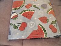 "NEW Blue Watermelon Cherry TABLECLOTH  52"" X 70""  Picnic COOKOUT Strawberry"
