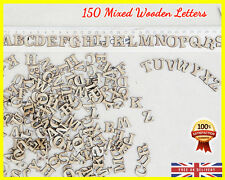 MDF ABC Shapes 150 Wooden Letters Scrapbooking Wood Letter Embellishment Card