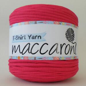 T-SHIRT YARN Shocking Pink New Large Ball Cotton Knit Crochet Weave 130m