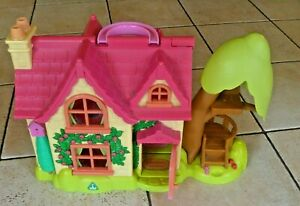 ELC Happy Land Cherry Lane Fold Up Carry Take Along House Cottage with Toys