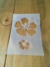 Hibiscus Flor de Mylar reutilizable Plantilla Aerógrafo Pintura Arte Arte hágalo usted mismo Home Deco