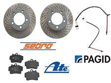 For Porsche Cayman Boxster Base 2.7L 05-08 Front Brake Rotors w/ Pads & Sensors