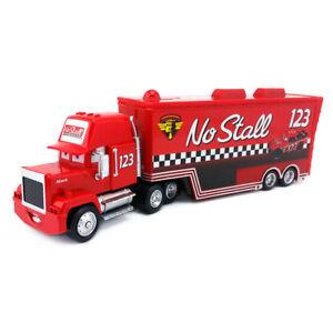 Disney Pixar Car Mack No.123 No Stall Racer's Hauler Truck Diecast Toy Boys Gift