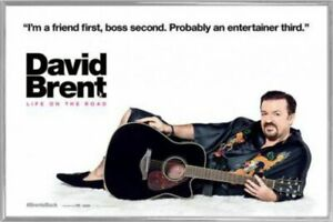 David Brent: Life On The Road Poster & Plastic Frame Silver (36x24inches) #AN7AP