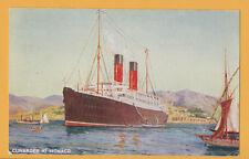 Cunarder at Monaco Color Postcard - Cunard Line