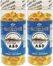 2 Nu-Health Cod Liver Oil (320 Softgels , 500 mg) good for eye. 10 months supply