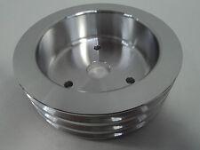 BB Chevy Aluminum Crankshaft Pulley 3 Groove SWP Short Water Pump BBC 454 Crank
